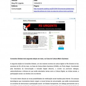 2013-04-10 - Conexões - Blog RS Urgente