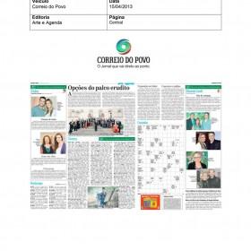 2013-04-15 - Conexões - Correio do Povo (Edição Impressa - Arte e Agenda)