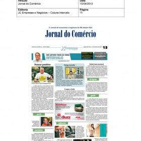 2013-04-15 - Conexões - Jornal do Comércio (Edição Impressa - Coluna Intervalo)