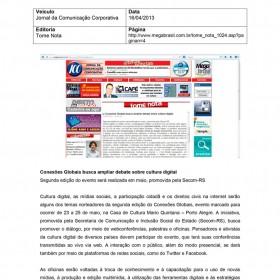 2013-04-16 - Conexões - Jornal da Comunicação Corporativa