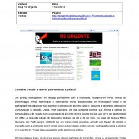 2013-04-17 - Conexões - Blog RS Urgente