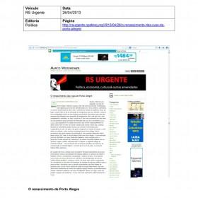 2013-04-26 - Conexões - Blog RS Urgente (citação)
