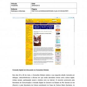 2013-04-29 - Conexões - FADERS
