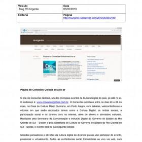 2013-05-03 - Conexões - Blog RS Urgente