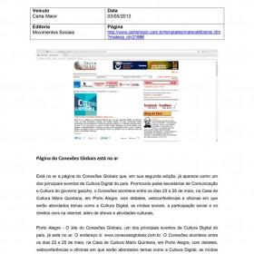 2013-05-03 - Conexões - Carta Maior