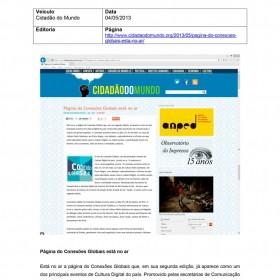 2013-05-04 - Conexões - Cidadão do Mundo