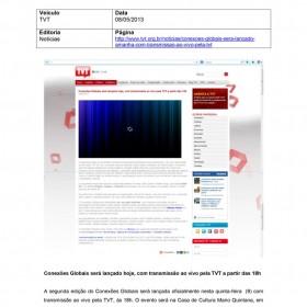 2013-05-08 - Conexões - TVT