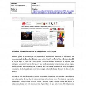 2013-05-09 - Conexões - Está em Livramento