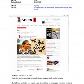 2013-05-13 - Conexões - Revista Select