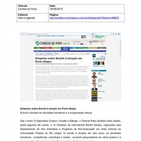 2013-05-18 - Conexões - Correio do Povo Online (Arte e Agenda - Citação)