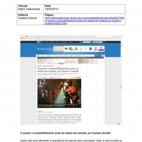 2013-05-18 - Conexões - Diário Catarinense (Edição Online - Caderno Donna)