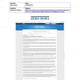 2013-05-18 - Conexões - Zero Hora (Edição Online - Caderno Cultura)