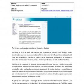 2013-05-20 - Conexões - Enfato Multicomunicação Empresarial