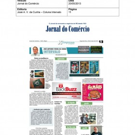 2013-05-20 - Conexões - Jornal do Comércio (Edição Impressa - Coluna Invervalo)