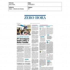 2013-05-20 - Conexões - Zero Hora (Edição Impressa - Informe do Ensino)