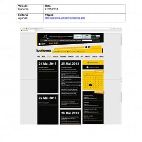 2013-05-21 - Conexões - Rádio Ipanema (Agenda)