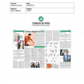 2013-05-23 - Conexões - Correio do Povo (Edição Impressa - Arte e Agenda)