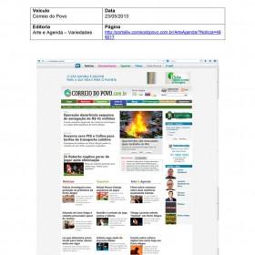 2013-05-23 - Conexões - Correio do Povo (Online - Arte e Agenda)