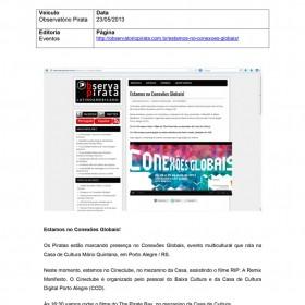 2013-05-23 - Conexões - Observatório Pirata