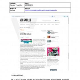 2013-05-23 - Conexões - Revista Versatille