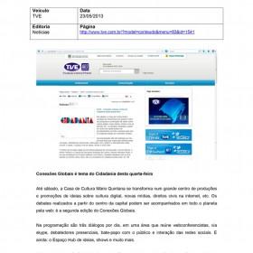 2013-05-23 - Conexões - TVE