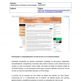 2013-05-24 - Conexões - Direito à comunicação