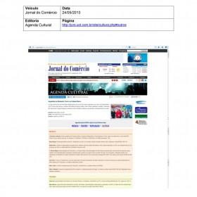 2013-05-24 - Conexões - Jornal do Comércio (Online - Agenda Cultural)