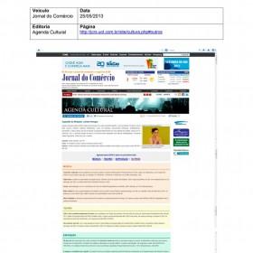 2013-05-25 - Conexões - Jornal do Comércio (Online - Agenda Cultural)