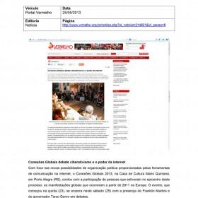 2013-05-25 - Conexões - Portal Vermelho