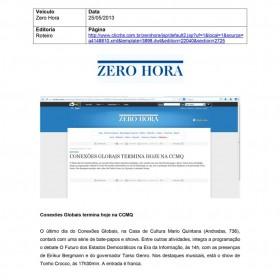 2013-05-25 - Conexões - Zero Hora (Edição Online - Roteiro)
