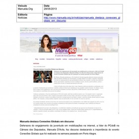 2013-05-28 - Conexões - Manuela